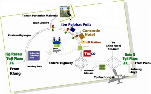 Map to Malaysia Agricultural Park